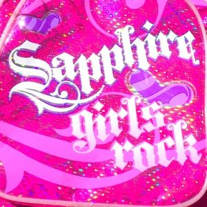Sapphire girls rock mini backpack Y2K aesthetic